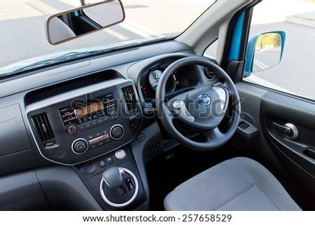 Hong Kong, China Dec 29, 2014 : Nissan e-NV200 2014 interior on Dec 29 2014 in Hong Kong. #257658529