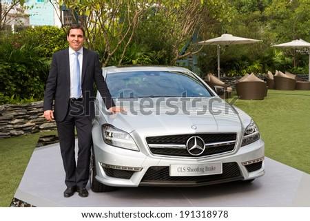 Hong Kong, China Jan 8, 2013 : Mercedes-Benz CLS Shooting Brake Media Event with Manager on Jan 8 2013 in Hong Kong.