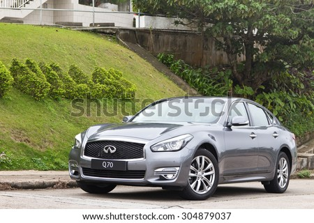 Hong Kong China March 18 2015 Infiniti Q70 2015 Test Drive on March 18 2015 in Hong Kong