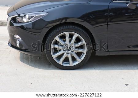 Hong Kong, China Oct 15, 2014 : Mazda3 JDM Japan Version 2014 test drive on Oct 15 2014 in Hong Kong. #227627122