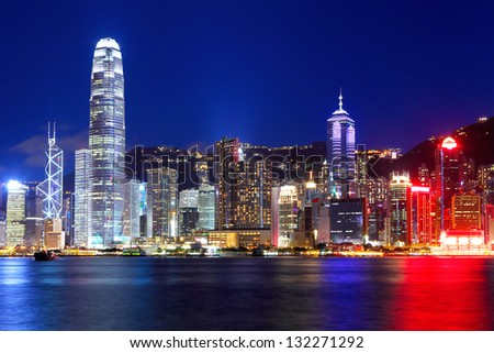 Hong Kong city at night #132271292