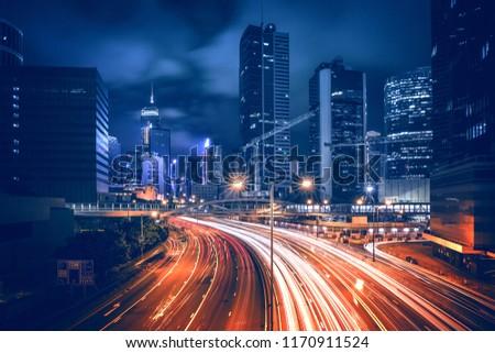 Hong Kong City Nightscape #1170911524