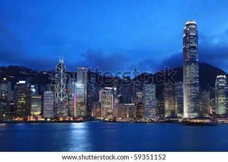Hong Kong cityscape at dusk