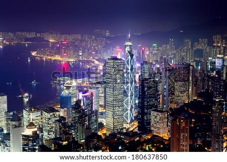 Hong Kong downtown #180637850