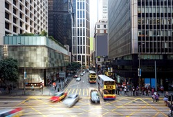 hong kong finance district , central