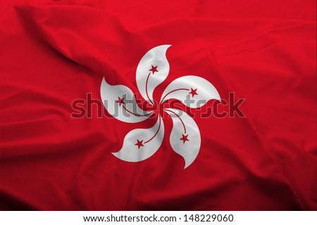 Hong Kong Flag - stock photo