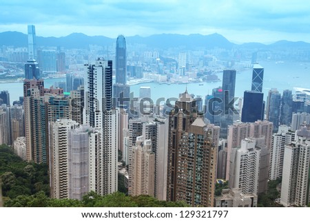 Hong Kong from peak Victory