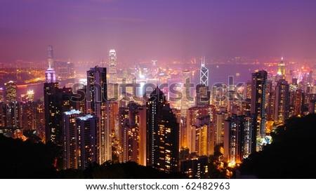 Hong kong from Victoria Peak  , Hong kong