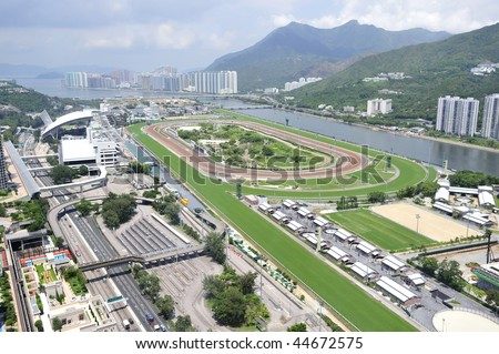 Hong Kong Horse Racing Course Stok fotoğraf ©