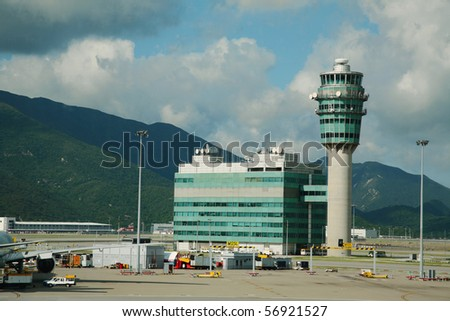 Hong Kong International Airport tower, Hong Kong.