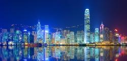 Hong Kong Island from Kowloon.