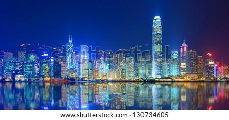 Hong Kong Island from Kowloon. Stockfoto ©