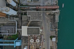 Hong Kong Lamma powerstation drone