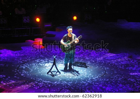 stock photo : HONG KONG - MAR 22: Eason Chan Duo Concert 2010 on 22