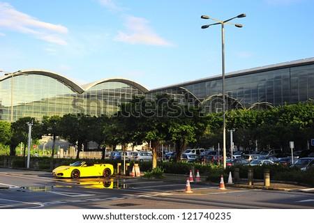 HONG KONG - MAY 19: Car parking at a Hong Kong International Airport on May19, 2012 in Hong Kong. HKIA is an important contributor to the Hong Kong economy, employing approximately 60,000 people.