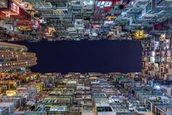 Hong kong, Monster Building, Night view