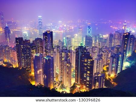Hong Kong skyline Stockfoto ©