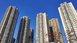 Hong Kong Tuen Mun Residental Apartments Typical Hong Kong Style of Building