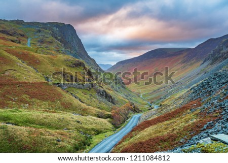 Honister Pass in the Lake District, is a mountain pass in the English Lakeland, joining Borrowdale to the Buttermere Valley