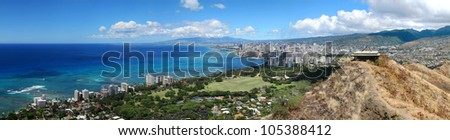 Honolulu and Waikiki from Diamond Head State Monument