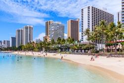 Honolulu, Hawaii. Waikiki Beach in Honolulu.