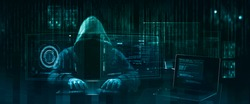 hooded hacker   online security concept