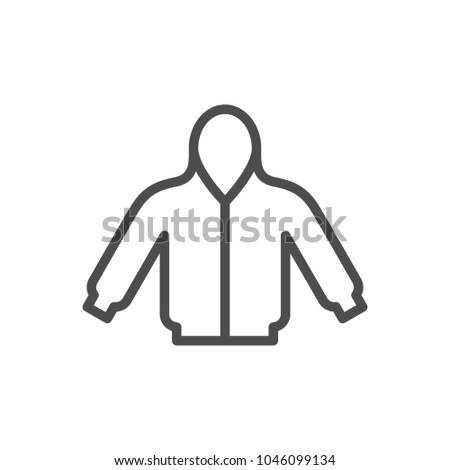 Hoodie line icon isolated on white