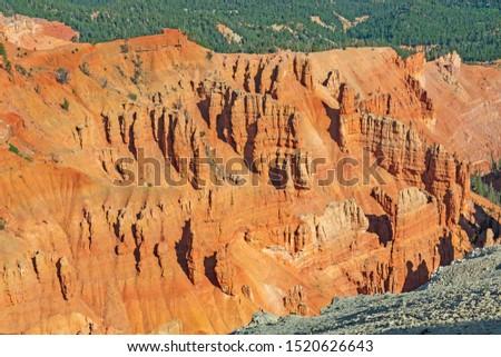 Hoodoo Details in Cedar Breaks in Cedar Breaks National Monument in Utah
