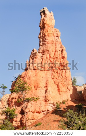 hoodoo(strange rock formation created by erosion) in Bryce Canyon National Park, Utah