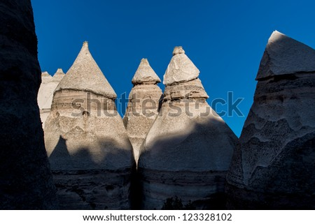 Hoodoos at Kasha-Katuwe Tent Rocks National Monument near Cochiti Pueblo, New Mexico