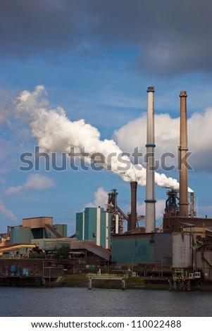 Hoogovens steel factory in IJmuiden-Velsen, Netherlands #110022488