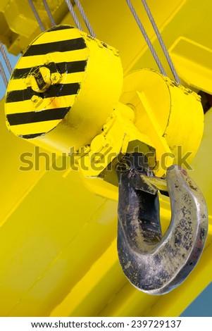 Hook of a heavy duty overhead crane
