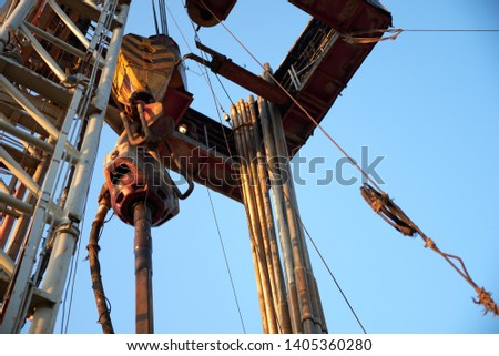 hook on hook hooked square for drilling well under oil and gas #1405360280