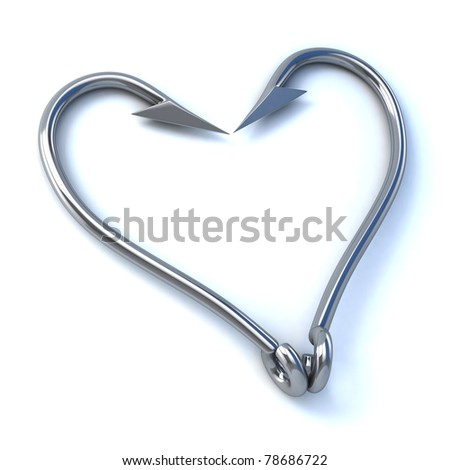 hook up / love 3d concept - stock photo