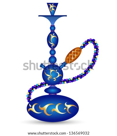 hookah with oriental pattern