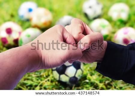 hooligan football fan punch  ...