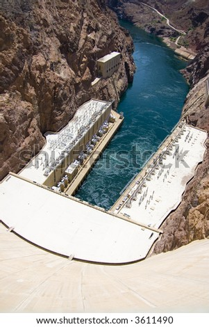 Hoover Dam at Lake Powell in Nevada