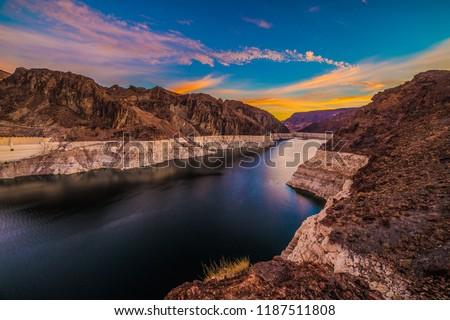 Hoover Dam At Sunrise
