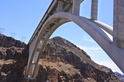 Hoover Dam bridge Nevada USA