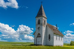 Hope Lutheran Church in the ghost town of Kayville, SK, Canada