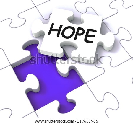 Hope Puzzle Showing Faith, Prayers And Wants