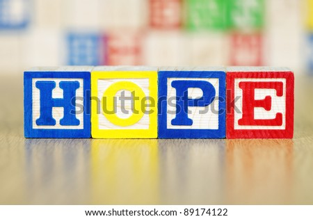 Hope Spelled Out in Alphabet Building Blocks