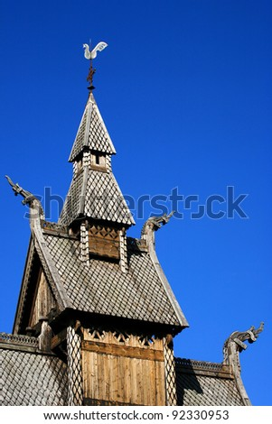 Hoppestad stave church in Norway