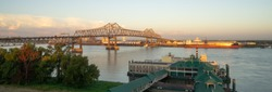Horace Wilkinson Bridge carries Interstate 10 in Louisiana across the Mississippi River from Port Allen in West Baton Rouge Parish to Baton Rouge in East Baton Rouge Parish.