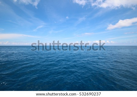 horizon of the sea