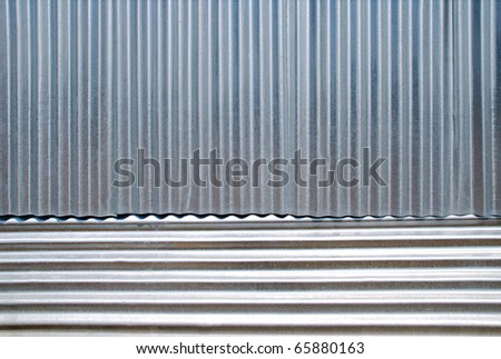 Horizontal and vertical corrugated iron stock photo for Horizontal metal siding