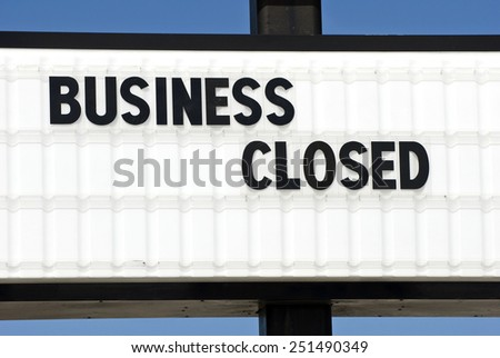 Horizontal Business Close Sign #251490349