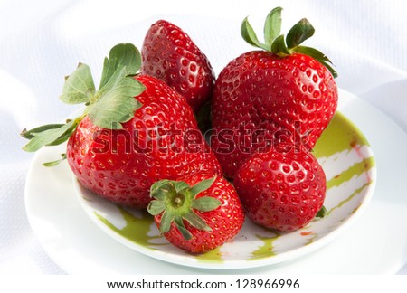 horizontal close up strawberries