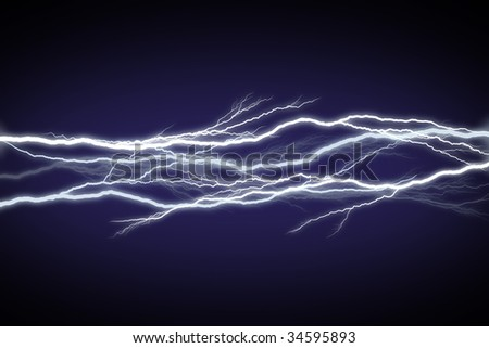 Horizontal field of lightning/electricity/energy.