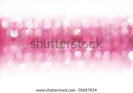Horizontal glamorous pink background with bokeh